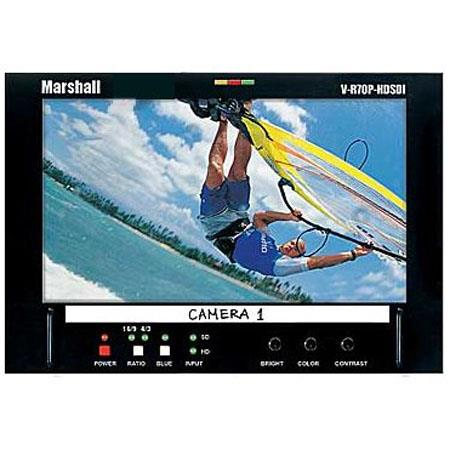 "Marshall V-R70P-HDSDI-AB, 7"" LCD Monitor with Anton Bauer Battery Mount and HD/SD-SDI Inputs and Outputs"