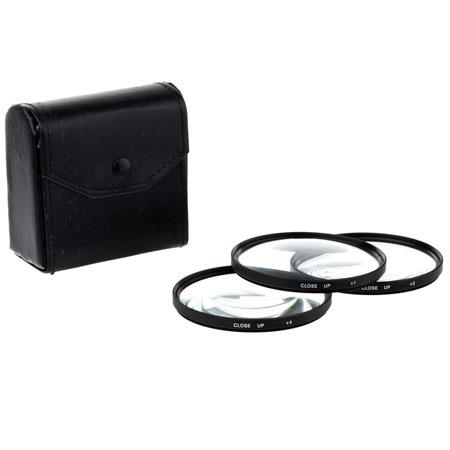 Adorama 77mm Close-up Filter Set with +1, +2 & +4 Macro Lenses. image