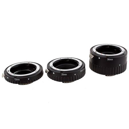 Pro Optic Auto Extension Tube Set for Nikon AF SLR Cameras with Full Exposure Capabilities. image