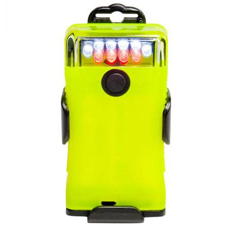 FoxFury Scout Tasker-Safety Right Angle Light with Phosphorescent Case, 6 White / 4 Red LED