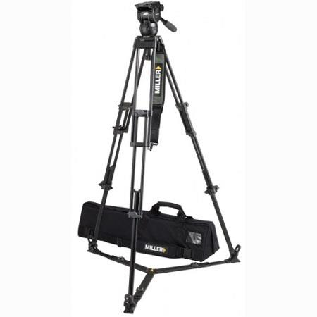 Miller Compass 15 Fluid Head System 1827 with 2 Stage 75mm Alloy Tripod & Ground Spreader - Supports 55 lbs., Max. Height 61.4""