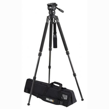 Miller Compass 15 Fluid Head System 1831 with Solo DV 2 Stage Alloy Tripod - Supports 44 lbs., Max. Height 63.5""