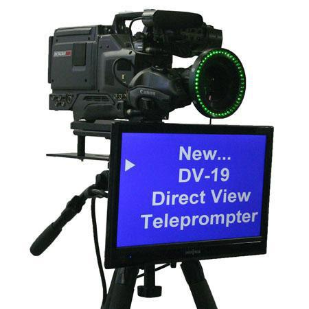 "Mirror Image DV-19 19"" Direct View Teleprompter, 1366x768 Resolution, 250 cd/m2 Brightness, +1000:1 Contrast Ratio"