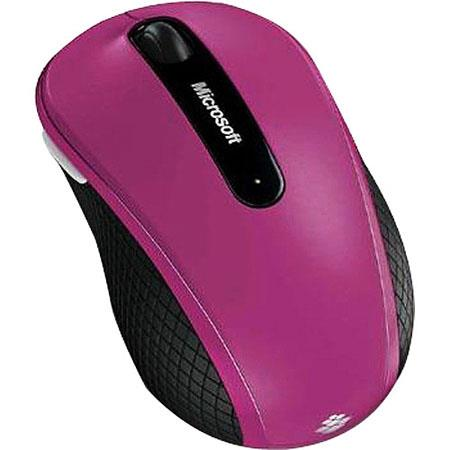 Microsoft Wireless Mobile Mouse 4000, USB, 4 x Button, Pink image