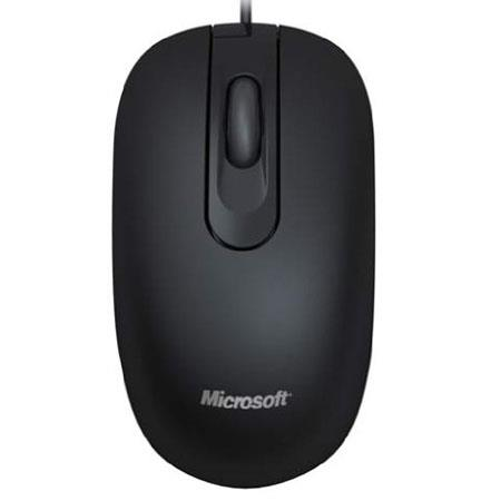 Microsoft 200 3 Button Scroll Wheel USB Wired Optical Mouse, 1000 dpi Movement Resolution, Black
