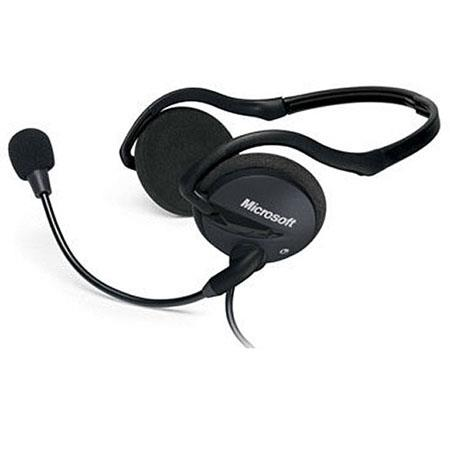 "Microsoft LifeChat LX-2000 Stereo Behind-The-Neck Headset, 98.4"" Cable Length"