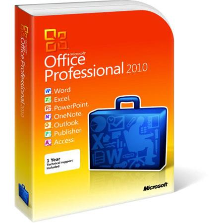 Microsoft Office 2010 Professional (32/64-Bit) Software for Windows, Office Suite - Complete Product
