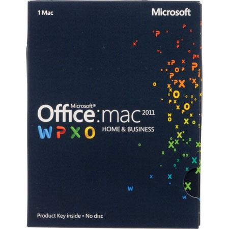 Microsoft Office for Mac Home and Business 2011 Software, English, Product Key