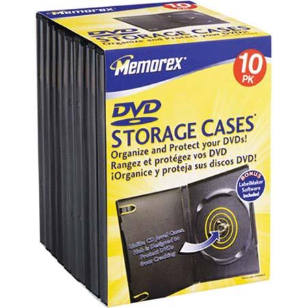 Memorex DVD Movie and Game Storage Cases, 10 Pack