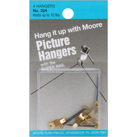 Moore 10lbs Hanger with Super Nail, 4 Pieces
