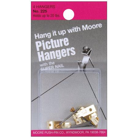 Moore 20lbs Hanger with Super Nail, 4 Pieces