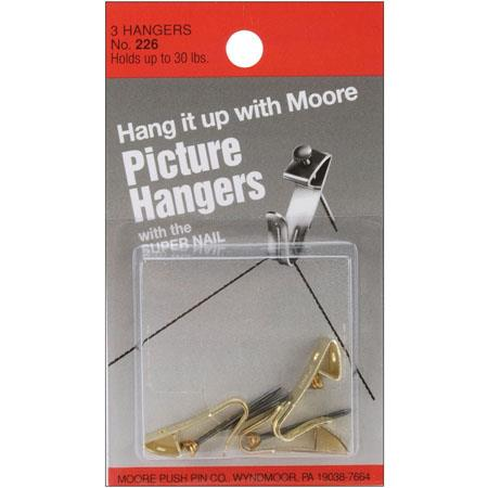 Moore 30lbs Hanger with Super Nail, 3 Pieces