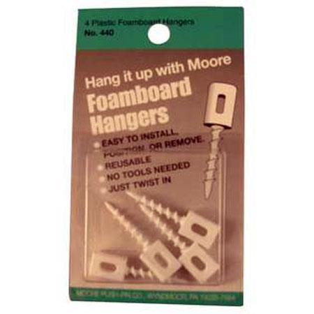 Moore Plastic Foamboard Hangers - Pack of 4