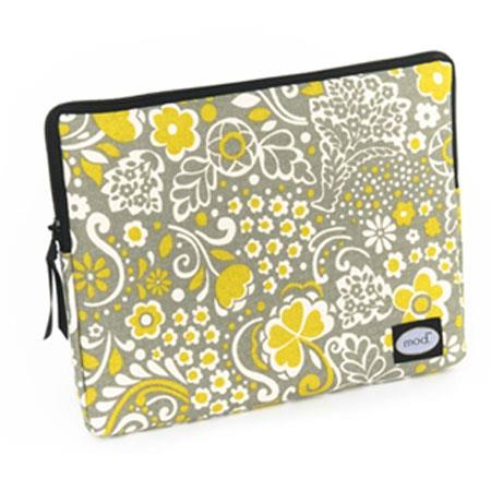 Mod Gray and Mustard Tablet Sleeve