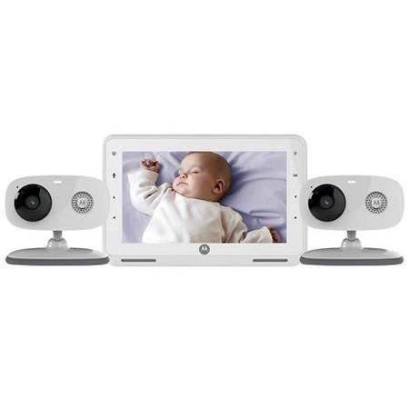 motorola digital video baby monitor 7 monitor with manual pan tilt 720p camera 2 cameras mbp867 2. Black Bedroom Furniture Sets. Home Design Ideas