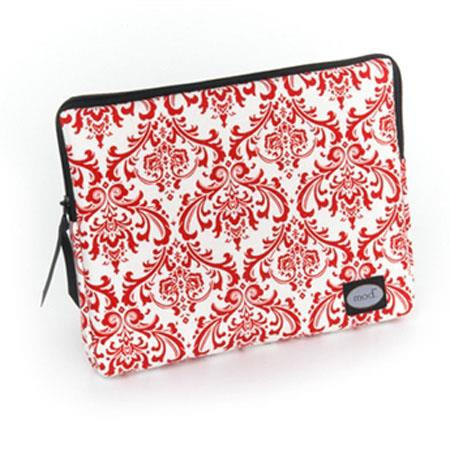 Mod Red and White Damask Tablet Sleeve