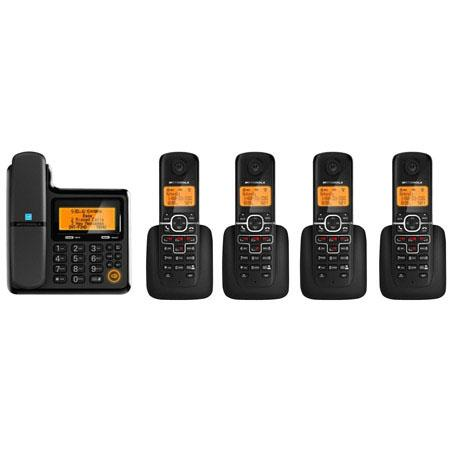 Motorola L705CM DECT 6.0 Corded/Cordless Phone System with 4 Cordless Handsets