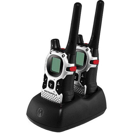 Motorola MJ270R Talkabout Two-Way Walkie Talkie Rechargeable Radio Set, 27 Miles Range
