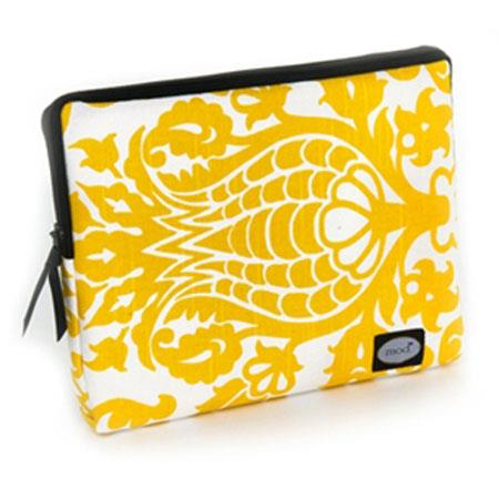 Mod Yellow and White Damask Tablet Sleeve