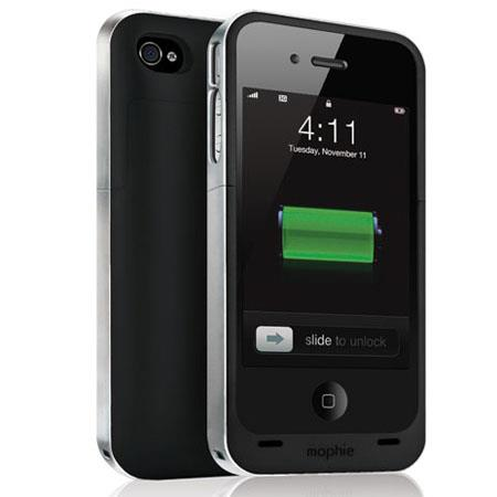 Mophie Juice Pack Air Rechargeable External Battery Case for iPhone 4/4s, Black