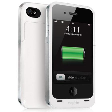 Mophie Juice Pack Air Rechargeable External Battery Case for iPhone 4/4s, White