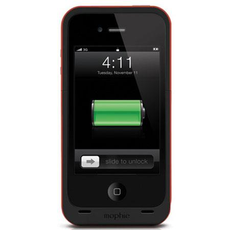 Mophie Juice Pack Plus Battery Pack for iPhone 4 & 4S, Red