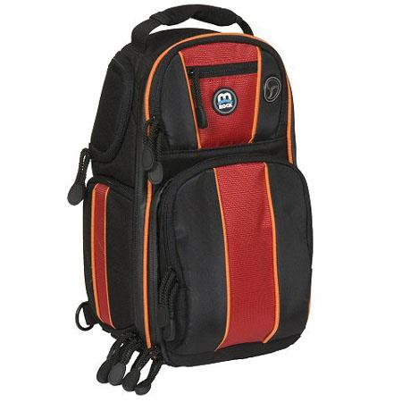 M-Rock Olympic 674 Hybrid Backpack / Sling Bag - Black /Red /Orange image