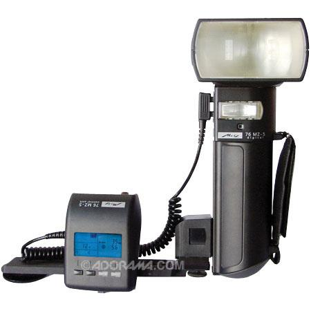 Metz 76 Series MZ-5, Digital Handlemount TTL Flash with NiMH Battery and Charger, Guide Number 250, ISO 100 ft. image