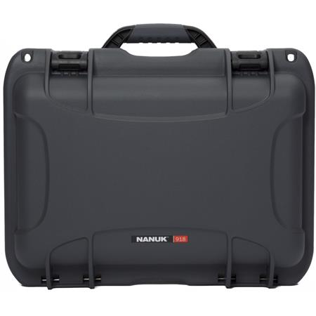 Nanuk 918 Lightweight NK-7 Resin Waterproof Protective Case With Foam, Graphite