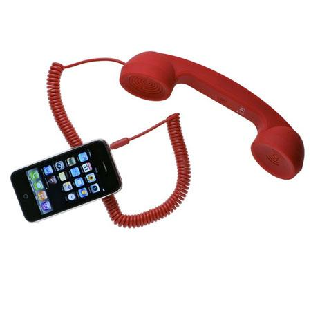Native Union Retro POP Handset for iPhone/iPad/iPod, Android Phones, Red