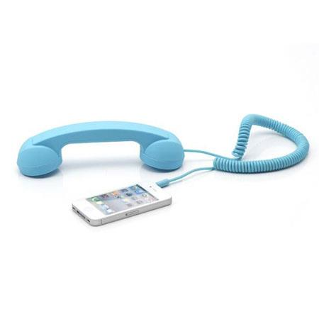 Native Union Retro POP Handset for iPhone/iPad/iPod, Android Phones, Sky Blue