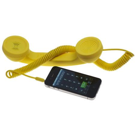 Native Union Retro Pop Handset for iPhone/iPad/iPod, Android Phones, Yellow