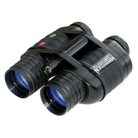Night Detective B Quest 3 Night Vision 4x Binoculars with IR Illuminator, (Generation 1 Image Intensifier Tubes).