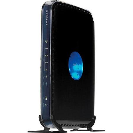 Netgear RangeMax N300 Wireless Dual Band ADSL2 + Modem Router, 144 Mbps Data Rate, 8 Internal Antennas, 4 x RJ-45 10/100 Mbps Ethernet LAN