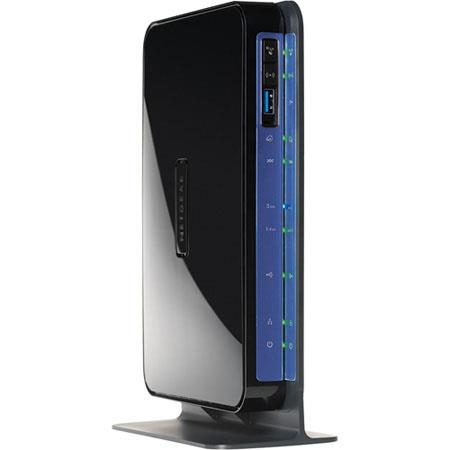 Netgear N600 Wireless Dual Band Gigabit ADSL2 + Modem Router, 600 Mbps Data Transfer Rate, 128MB RAM, USB 2.0