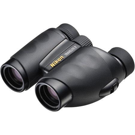 Nikon 10 x 25 Travelite V, Weather Resistant Porro Prism Binocular with 5.0 Degree Angle of View, U.S.A. image