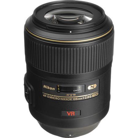 Nikon 105mm f/2.8G ED-IF AF-S VR Micro Nikkor Lens - U.S.A. Warranty