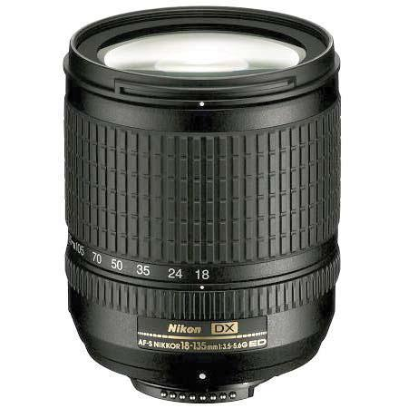Nikon 18mm - 135mm f/3.5-5.6G ED-IF AF-S DX Versatile Autofocus Zoom Lens - Refurbished by Nikon U.S.A. image