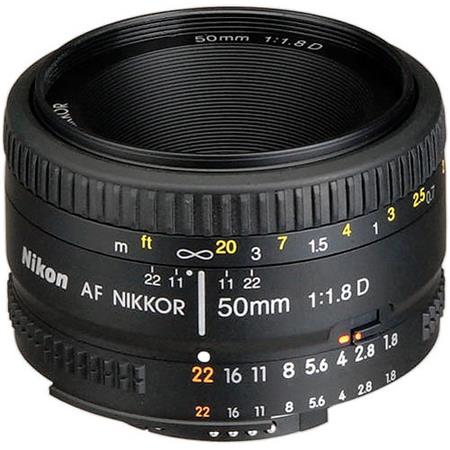 Nikon 50mm f/1.8D AF Standard Auto Focus Nikkor Lens - with 5 Year U.S.A. Warranty image