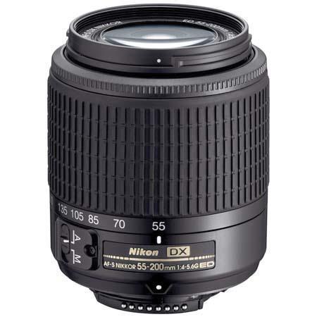 Nikon 55mm - 200mm f/4-5.6G ED AF-S DX Autofocus Zoom Lens - Refurbished by Nikon U.S.A. image