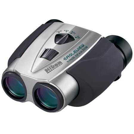 Nikon 8 - 24 x 25 EagleView Zoom, Weather Resistant Porro Prism Binocular with 4.6 Degree Angle of View at 8x, Silver, U.S.A. image