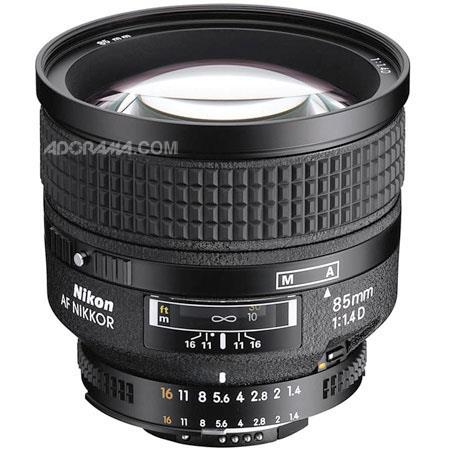 Nikon 85mm f/1.4D IF AF Telephoto Nikkor Lens with Hood - Nikon U.S.A. Warranty