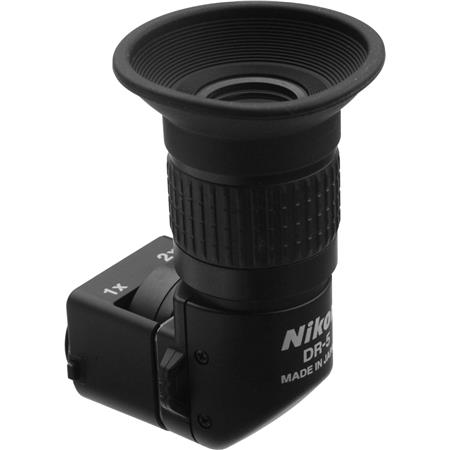 Nikon DR-5, Right Angle, Screw-In Finder for the D1 & D2 Series, F6, F5, F4, F100, N90/s, N8008/s and Older F Series Cameras. image