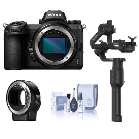 Nikon Z6 FX-Format Mirrorless Camera Body - Bundle With Nikon Mount Adapter FTZ, DJI Ronin-S 3-Axis Gimbal Essentials Kit,...