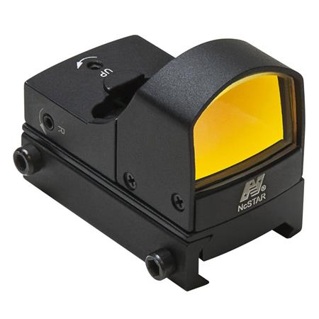 NcSTAR 1x25mm Compact Red Dot Sight with 2 MOA Dot Size, Weaver Base, Matte Black