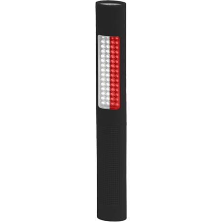 Bayco NIGHTSTICK LED Safety Light and Flashing White-Red Floodlight, 150 Lumens CREE LED, 120 Lumens Colored LED Safety Light