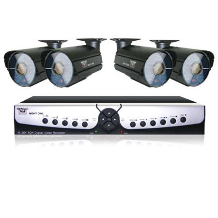 Night Owl 4 Channel Smart DVR with 500GB Hard Drive, 4 x 600 TVL Cameras with 100ft Night Vision