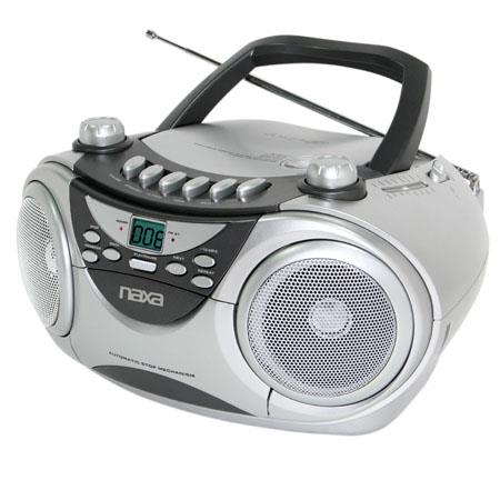 Naxa Portable CD Player with AM/FM Stereo Radio & Cassette Player/Recorder