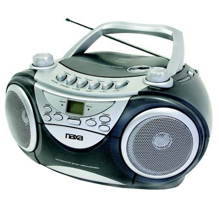 Naxa Portable MP3/CD Player, AM/FM Stereo Radio, USB Input & Cassette Player/Recorder