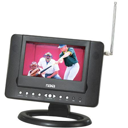 "Naxa 7"" Widescreen Portable Digital LCD TV with Built-In DVD Player and USB/SD/MMC Inputs, 480 x 234, 16:9 Aspect Ratio, Telescopic Antenna"